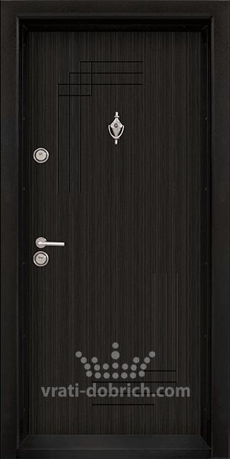 Блиндирана входна врата T-111, цвят Черна перла