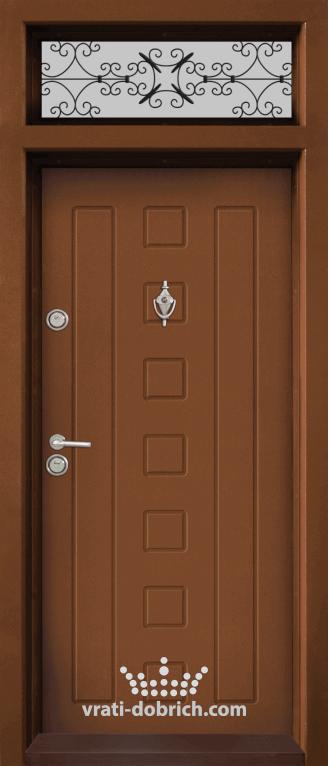 Ednokrila vhodna vrata T 712 tsvyat Zlaten dab 3