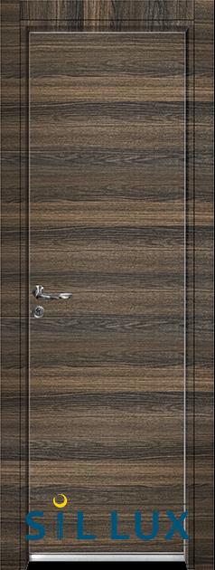 Алуминиева врата Sil Lux, цвят Райски орех