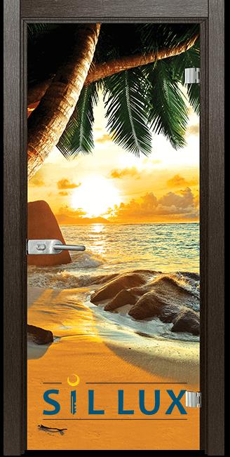 Стъклена интериорна врата Print G 13 14 E