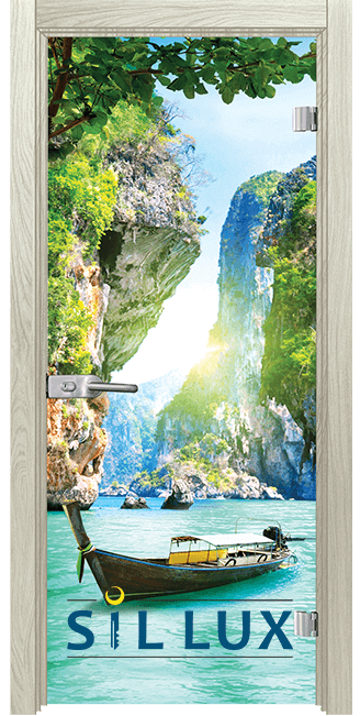 Стъклена интериорна врата Print G 13 15 I