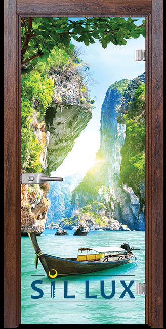 Стъклена интериорна врата Print G 13 15 Q